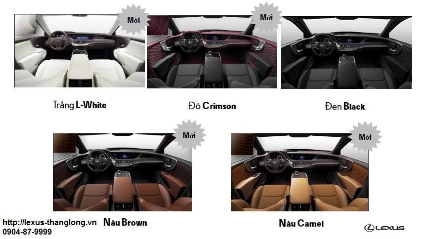 Màu nội thất Lexus LS500