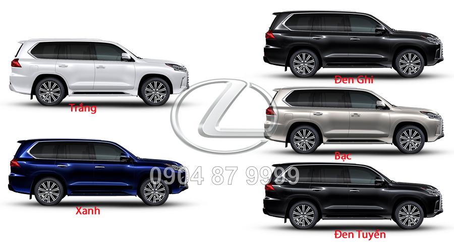 Màu xe Lexus LX570 2020